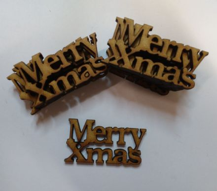wooden crafts MERRY XMAS shapes, laser cut 3mm mdf embellishments, decoupage,